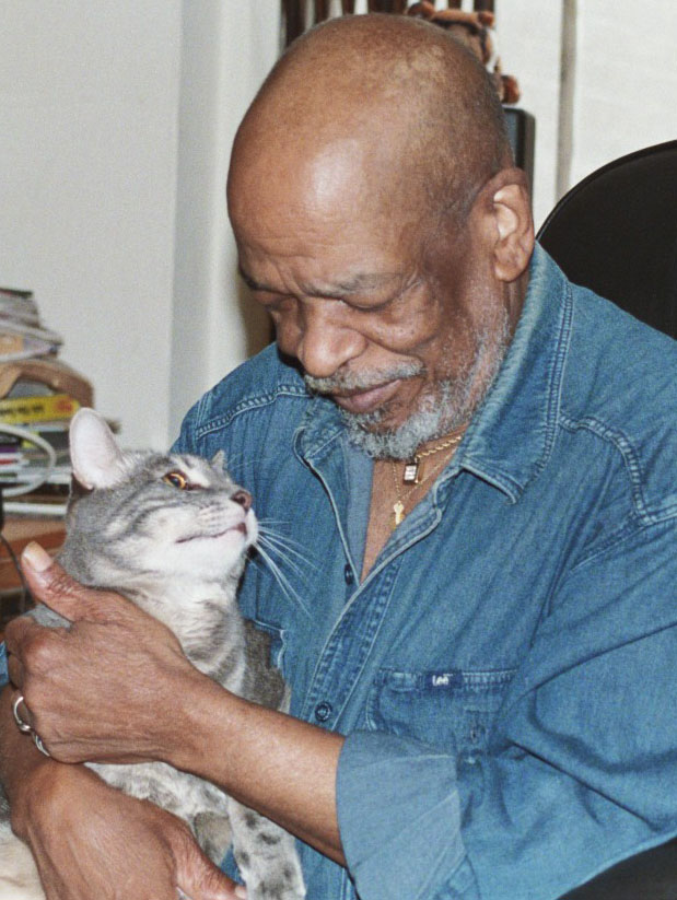 Jimmy with Prince, his Cat